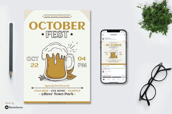 Thumbnail for October Fest - Flyer & Instagram Post GR