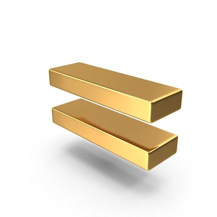Gold Equal Symbol