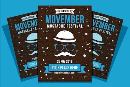 Movember Mustache Festival Flyer