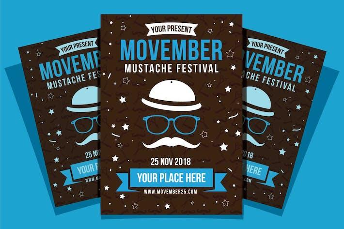 Thumbnail for Movember Mustache Festival Flyer