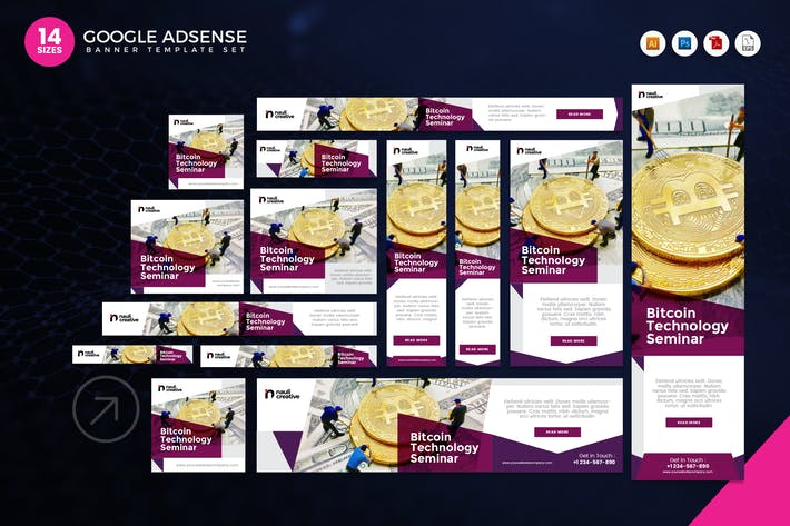 Thumbnail for 14 Bitcoin Technology Google Adsense Web Banner