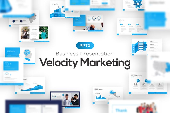 Thumbnail for Шаблон маркетинговой презентации Velocity