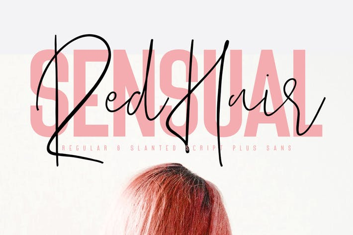Thumbnail for Red Hair Sensual Typeface - Free Sans