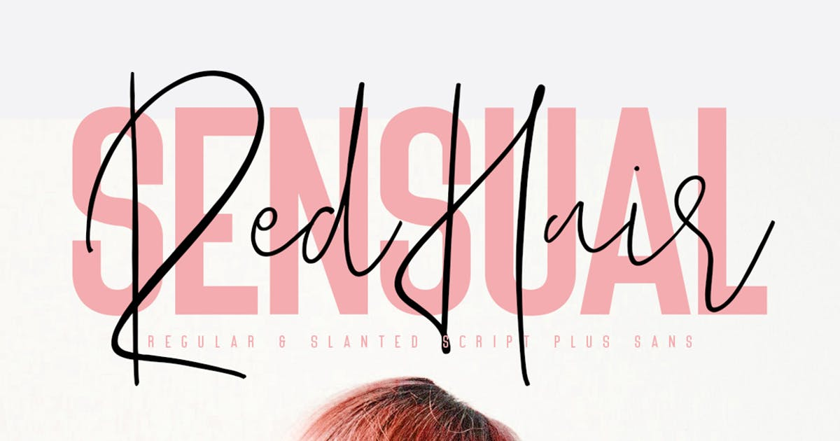 Red Hair Sensual Typeface - Free Sans by maulanacreative