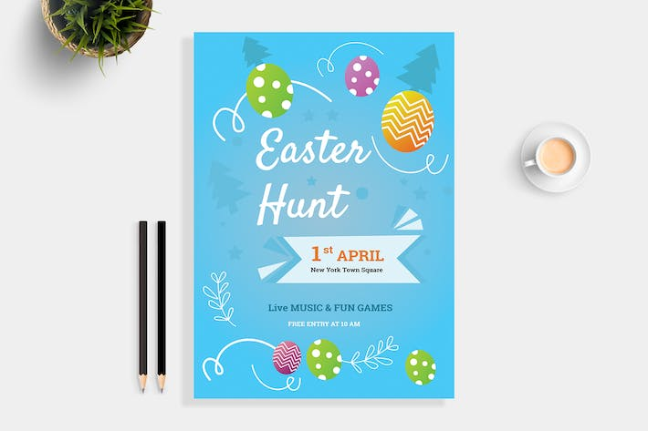 Thumbnail for Easter Hunt Party Flyer