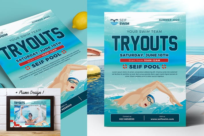 Thumbnail for Swim Tryouts Flyer