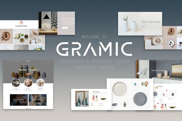 Thumbnail for Gramic - Керамика & Керамика Декор Shopify Тема