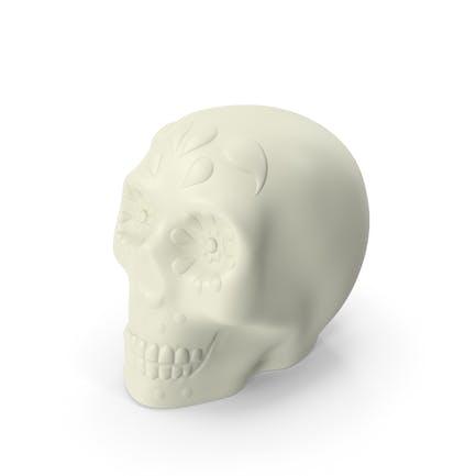 Halloween Skull White
