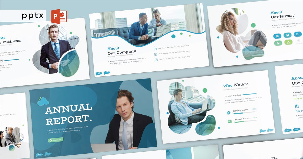 Download ANNUAL REPORT - Powerpoint  V275 by Shafura