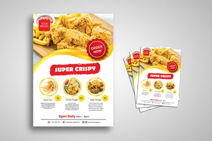 Crispy Fried Chicken Flyer