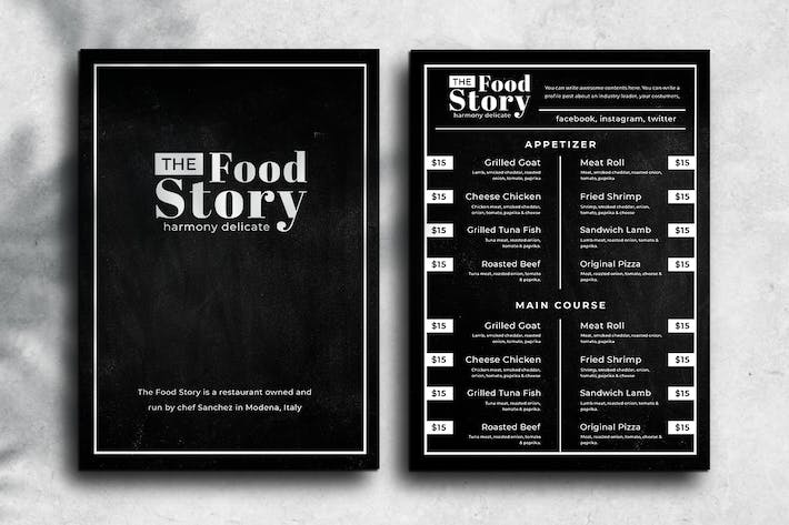 Thumbnail for Blackboard Food Menu. 01