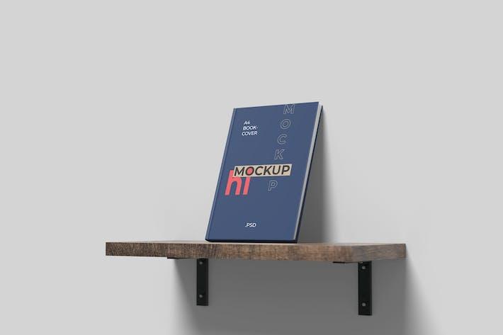 Thumbnail for Book Cover Mockup on Floating Desk