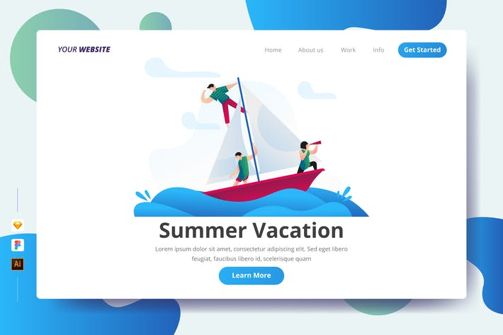 Summer Vacation - Landing Page