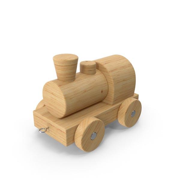 Wooden Toy Locomotive