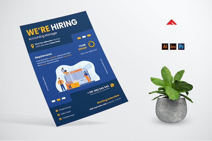 Thumbnail for Accounting Job Hiring Flyer Advertisement