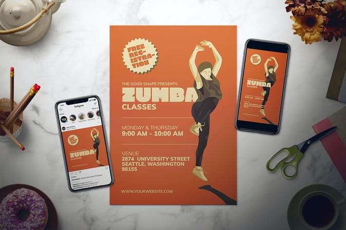 Thumbnail for Zumba Flyer Set
