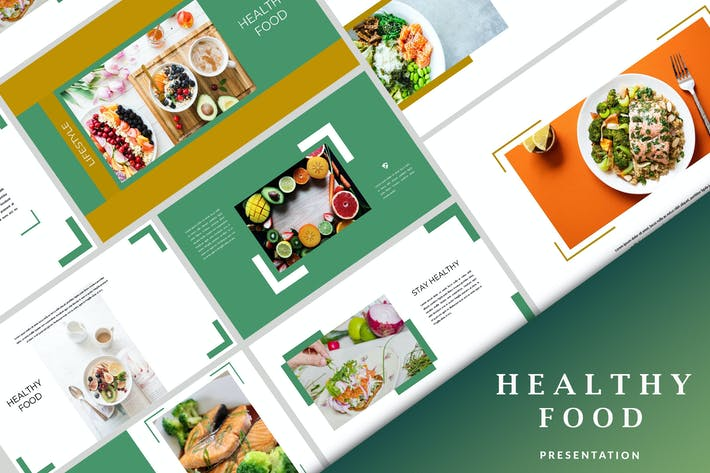 Thumbnail for Healthy Food - Creative Powerpoint Template