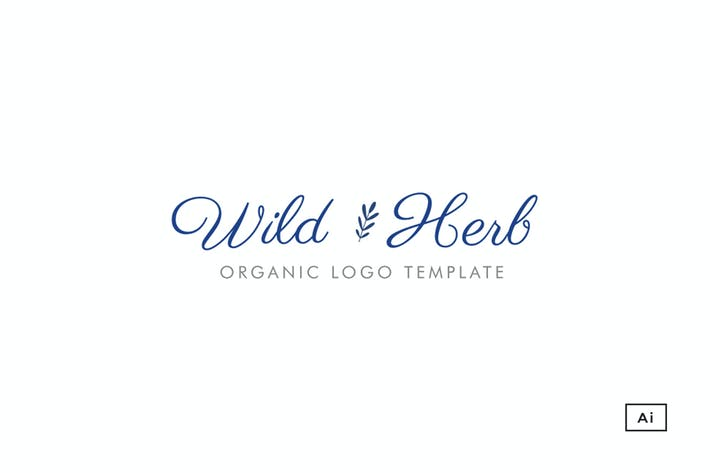 Thumbnail for Wild Herb Organic Logo Template