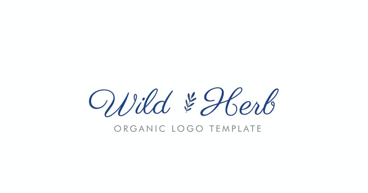 Download Wild Herb Organic Logo Template by 83Oranges