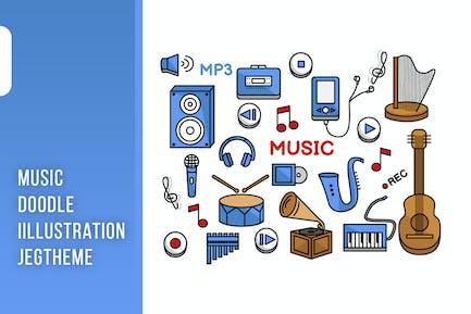 Music doodle Illustration Vol. 1