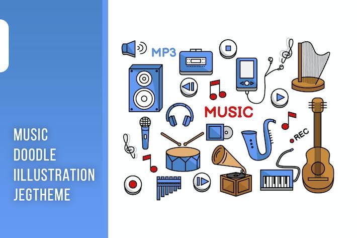 Thumbnail for Music doodle Illustration Vol. 1