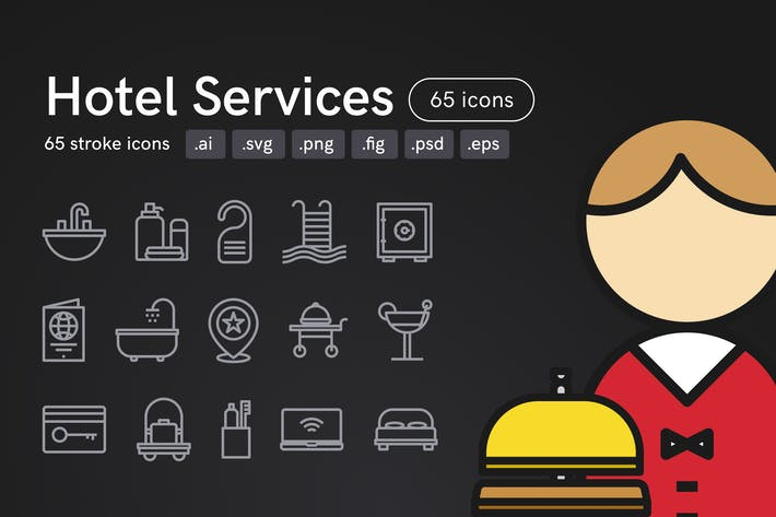Thumbnail for Hotel Services Icons