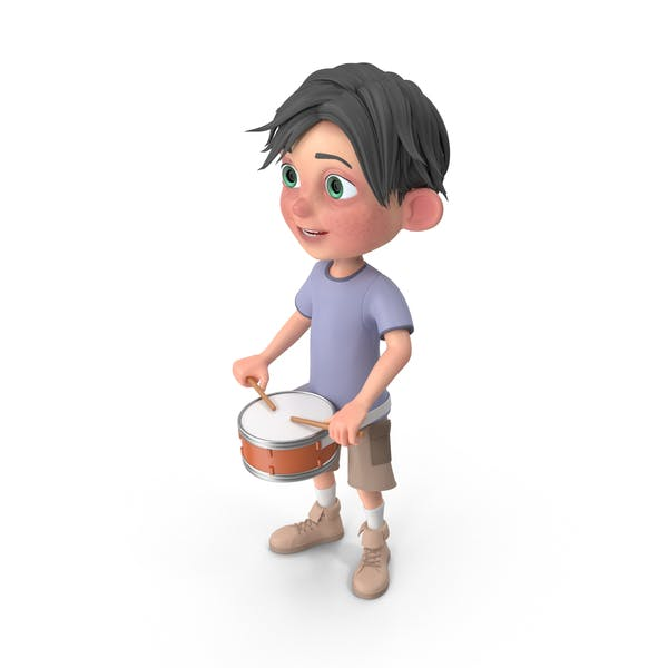 Thumbnail for Мультфильм мальчик Джек играет Snare барабан