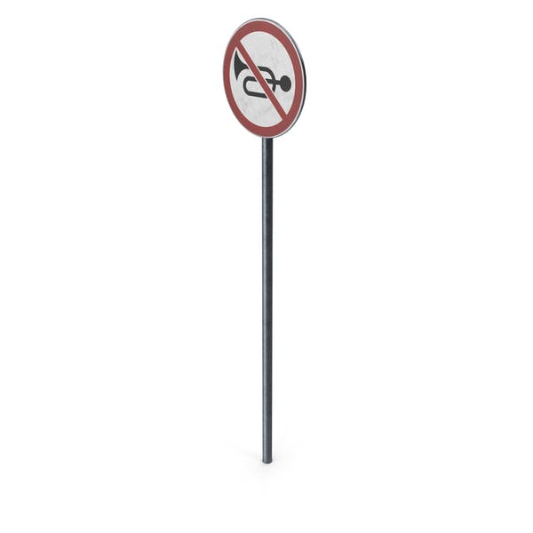 Дорожный знак без рога с полюсом