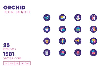 1980+ Icons - Orchid Icon Bundle