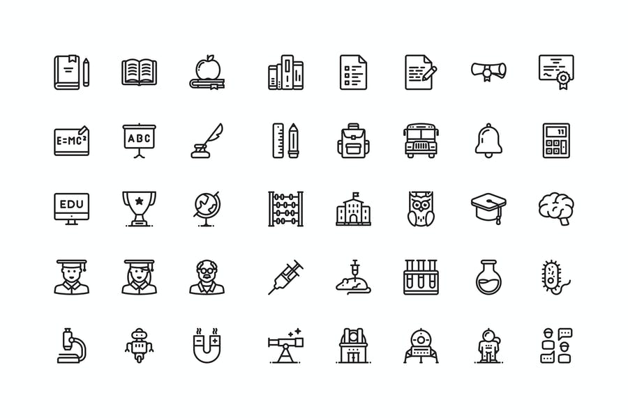 40 Science and Education icons