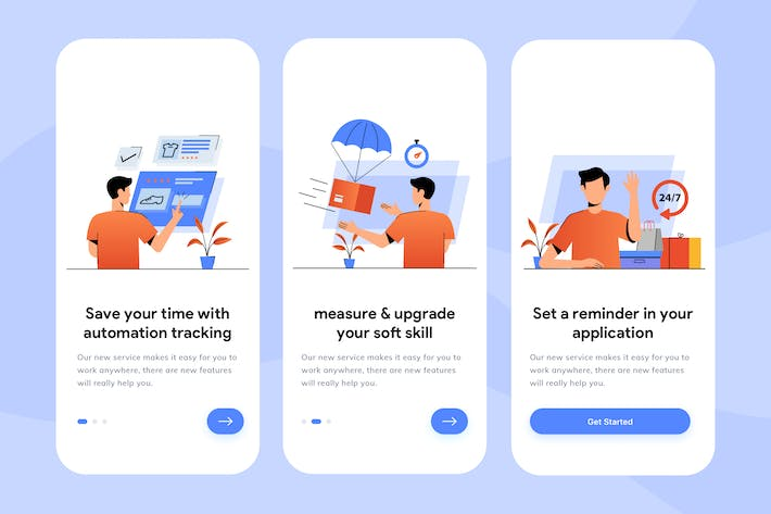Thumbnail for Delivery Apps Onboarding Illustration