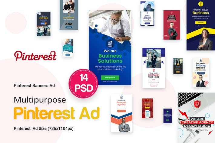 Cover Image For Pinterest Multipurpose, Business Ad