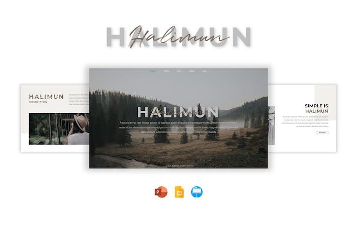 Шаблон презентации Halimun