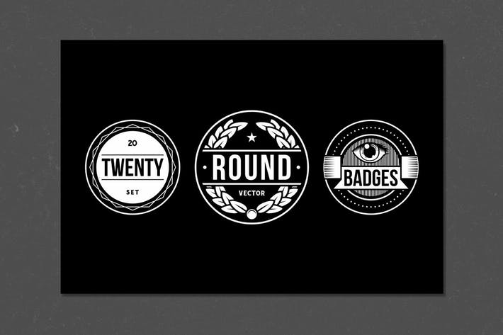 Thumbnail for 20 Round Badges