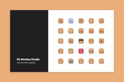 Süße Affen Emojis