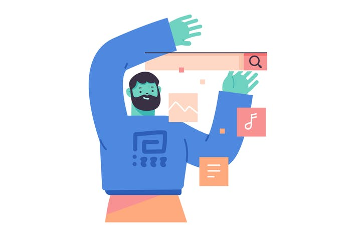 Search Bar Flat Illustration