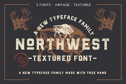 The Northwest - Textured Vintage Type Family