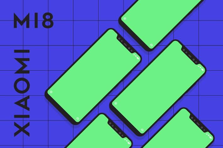Thumbnail for Xiaomi Mi8 vector mockup