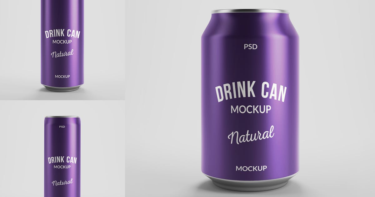Download Drink Can Mockups by MintMockups