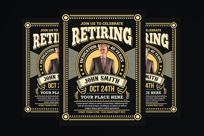 Thumbnail for Retirement Invitation Flyer