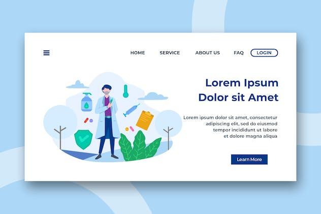 Healthcare & Medical Header Landing Page