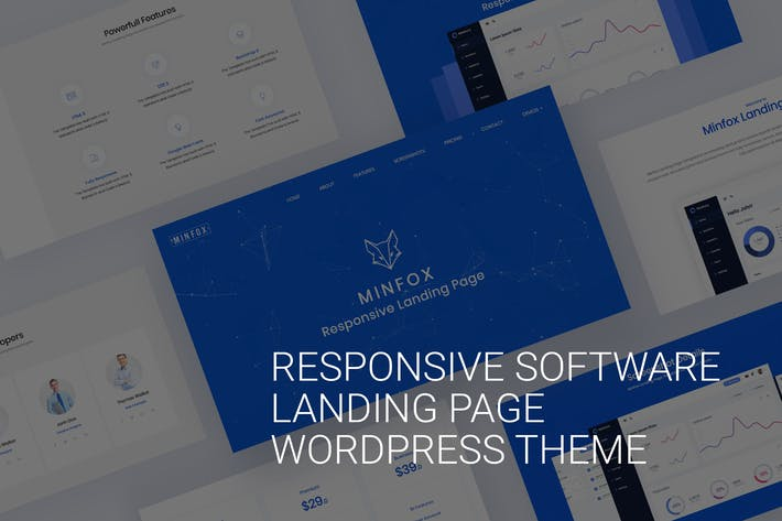 Thumbnail for Software Landing Page WordPress Theme - Minfox