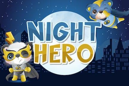 Night Hero Display Font