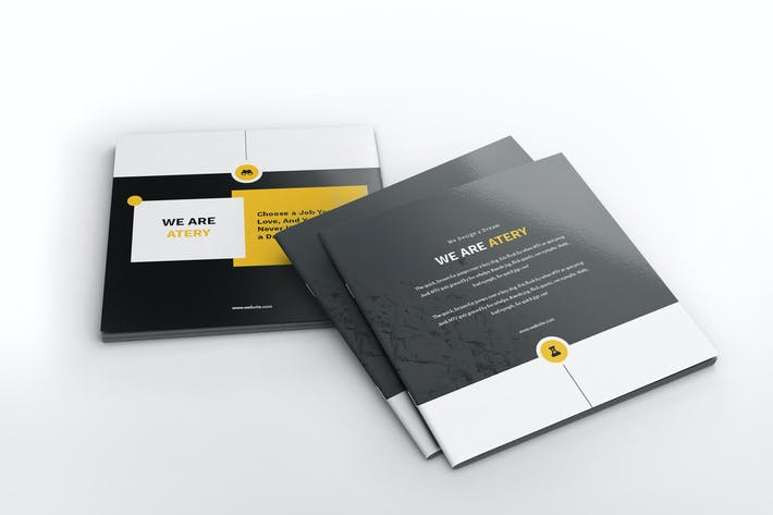 Thumbnail for Atery Resume CV Square Brochure Template