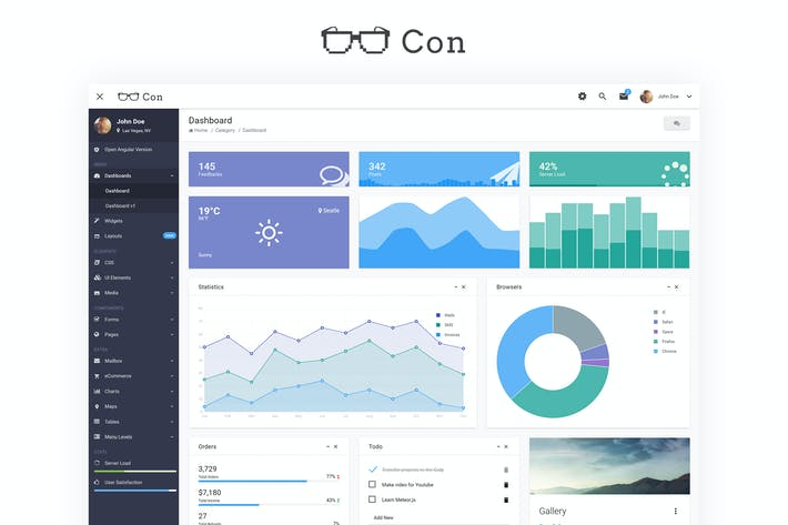 Thumbnail for Con - Material Admin Dashboard Template