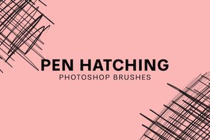 20 Pen Hatching Brushes V1