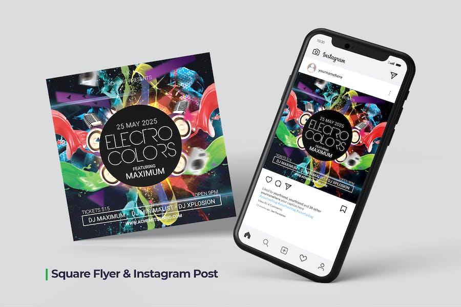 Electro Colos Flyer & Social Post