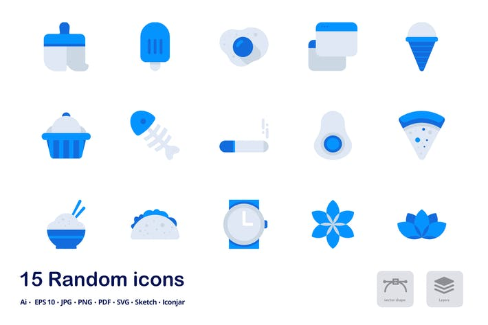 Thumbnail for Random Accent Duo Tone Icons