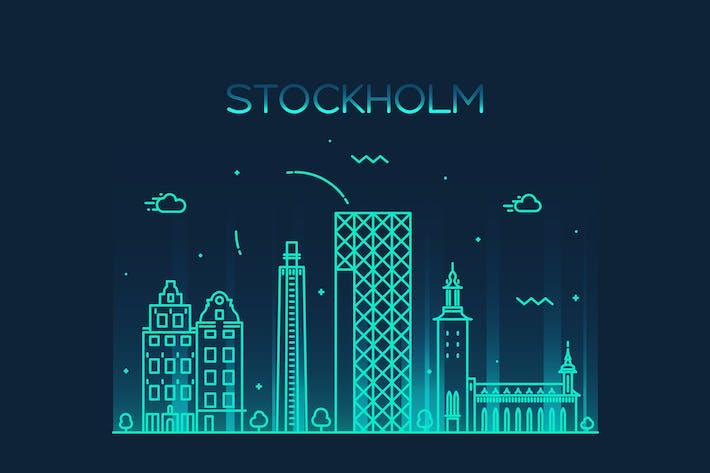 Thumbnail for Stockholm skyline, Sweden