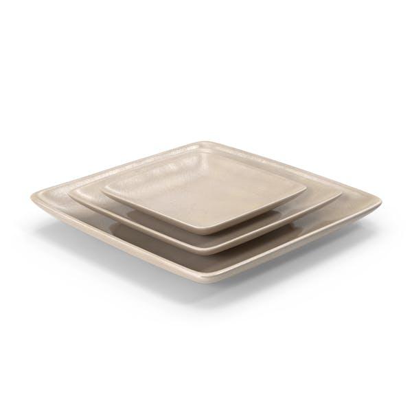 Pottery Serving Plate Set